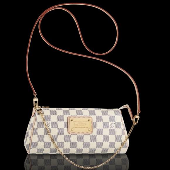 e87355791bd0 NEW Eva Clutch Damier Azur Canvas Cross Body Bag